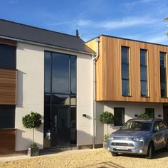Cedar cladding has rich and variable colours. It is highly resistant and looks great when painted. View our range of timber and get your instant estimate today. External Wall Cladding, Western Red Cedar Cladding, Stainless Steel Nails, Natural Preservatives, Types Of Wood, New Homes, Exterior, Extension Ideas, Outdoor Decor