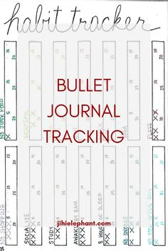 Bullet journaling is my favorite way to stay organized! Bullet journals are super customizable which is my favorite part. You can add anything you want to help you keep organized. I like to add tracking pages! Here are a ton of tracking page ideas!
