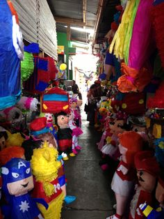 pick your pinata! (market day in Antigua, Guatemala)