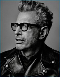 Photographed by Craig McDean, Independence Day: Resurgence actor Jeff Goldblum brings his modern style to the pages of Interview magazine. The actor sports a look right out of his own wardrobe. Foto Face, Wow Photo, Craig Mcdean, The Face, Celebrity Portraits, Famous Portraits, Celebrity Faces, Black And White Portraits, Famous Faces