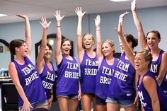 Team Bride basketball jerseys for getting ready