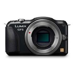Panasonic DMCGF5 12 MP Compact System Camera with 3Inch Touch Screen BODY ONLY Black -- Learn more by visiting the image link.