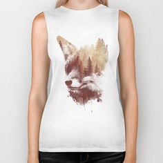 Blind fox by Robert Farkas #tshirts #tanktops