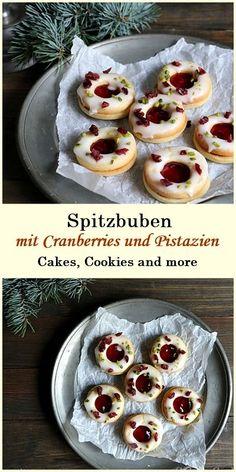 Rezept für Cranberry Spitzbuben mit Pistazien - mit Rezept für Cranberry Gelee #spitzbuben #cranberry #plätzchen #cookies