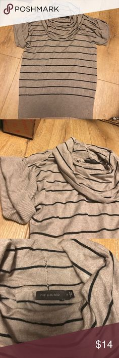 Cowl neck sweater shirt Cowl neck, striped sweater shirt. Lightweight, super comfy! The Limited Tops Sweatshirts & Hoodies