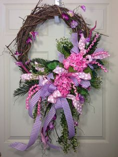 spring grapevine wreaths | Spring /Summer Grapevine Wreath by WilliamsFloral on Etsy