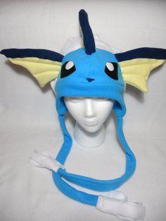 Pokemon Vaporeon Fleece Hat by Higginstuff on Etsy, $40.00