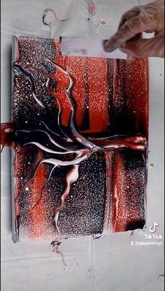 Flow Painting, Acrylic Pouring Art, Acrylic Painting Lessons, Acrylic Art, Acrylic Painting Canvas, Abstract Canvas Art, Diy Canvas Art, Cool Paintings, Creative Art
