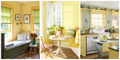 32 Cheerful Yellow Rooms That Will Brighten Your Home  Some of these aren't my favs, but I want to remember others.