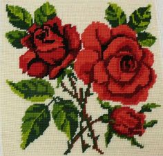 This Pin was discovered by Еле Simple Cross Stitch, Cross Stitch Rose, Cross Stitch Flowers, Cross Stitch Charts, Cross Stitch Designs, Cross Stitch Patterns, Cross Stitches, Embroidery Patterns Free, Embroidery Fabric
