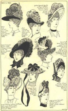 Victorian Hats (1880-90)