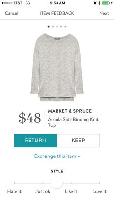 Market & Spruce Arcola Side Binding Knit Top...I love Stitch Fix! A personalized styling service and it's amazing!! Simply fill out a style profile with sizing and preferences. Then your very own stylist selects 5 pieces to send to you to try out at home. Keep what you love and return what you don't. Only a $20 fee which is also applied to anything you keep. Plus, if you keep all 5 pieces you get 25% off! Free shipping both ways. Schedule your first fix using the link below! #stitchfix…