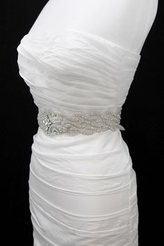Bridal belt. I need to find one for my dress! I love this one! -But I have to find one on sale ;)