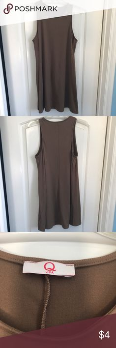 Brown Suede Dress This is a flowy dress. The true color of this dress is w/ Q label. Dresses