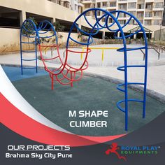We have all been on the regular climbers, but kids today need a challenging game to build skill and strategy. Royal Play proudly paves the way, by introducing the 'M' Shaped climber. Child safe curves and angels help kids have more entertainment and improve brain activity. Royal Play we let a child play healthy. #royalplayequipment #climber #playground #childrenattraction