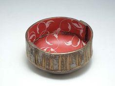 'Red Bowl' Stoneware with porcelain slip d 20 cm. by Sarah Dunstan