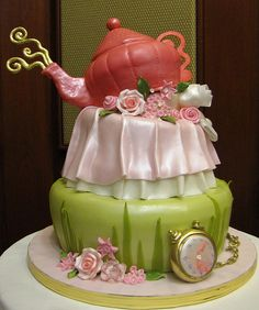 Tea pot cake, can't wait to make one for my daughter :)