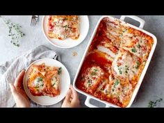 Skinny Spinach Lasagna Recipe - Pinch of Yum