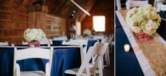 #kfb_events #rentals #prattplaceweddings #goldsequin #navyandgold #barnwedding | white wood chairs | wedding centerpiece