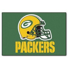 Green Bay Packers 19 in. x 30 in. Accent Rug, Team Colors