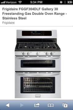 Frigidaire gas double oven, range. Love the idea.