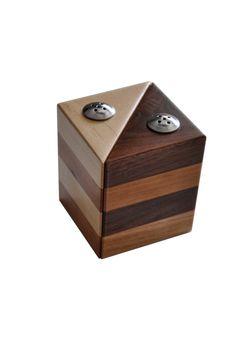 Wooden Salt and Pepper Shaker Set by thwooddesign on Etsy