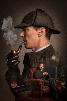 Check out these new pictures from Sherlock: The Abominable Bride, a new Vicorian special that takes Sherlock Holmes (Benedict Cumberbatch) and Dr. John Watson (Martin Freeman) back to London. Benedict Sherlock, Sherlock John, Sherlock Poster, Sherlock Series, Sherlock Quotes, Sherlock Tumblr, Sherlock Pipe, Sherlock Moriarty, Sherlock Holmes Benedict Cumberbatch