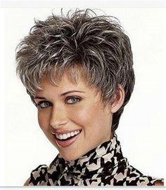 Silver Grey Цвет Короткие Вьющиеся Парики Из Синтетических Волос Для Красоты Женщин + сетки для волос