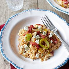 Sweet leeks, creamy goat's cheese and crispy bacon are a marriage made in food heaven in this fabulous risotto that's as kind to your budget as it is to your taste buds.