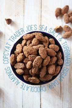 Copycat Trader Joe's Sea Salt & Turbinado Sugar Dark Chocolate Almonds I 24 Carrot Life