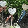 Country Garden Plant Stakes  http://www.favecrafts.com/Garden-and-Outdoor/Country-Garden-Plant-Stakes/ml/1