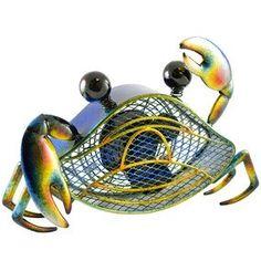 Deco Breeze Blue Crab Figurine Fan - Top Level Fans