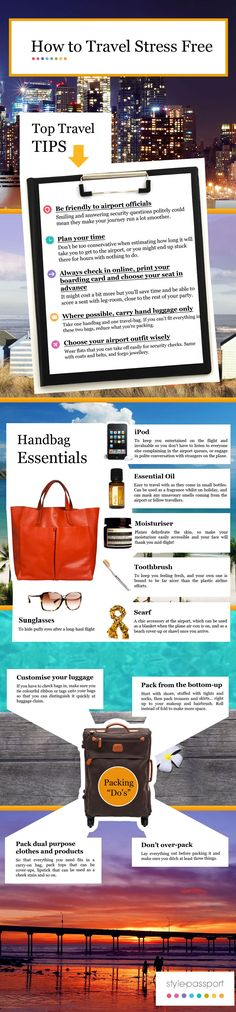 How to Travel Stress Free - INFOGRAPHIC