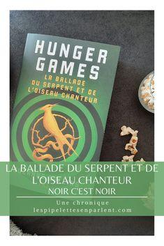 Très bien écrit mais d'une noirceur assez étouffante ce préquel à la saga Hunger Games enrichit encore l'univers. Lisez mon avis complet sur La ballade du serpent et de l'oiseau chanteur de Suzanne Collins en cliquant sur l'image. #suzannecollins #hungergames #pkj #pocketjeunesse #scifibook #dystopie #livre #litterature #chroniquelitteraire