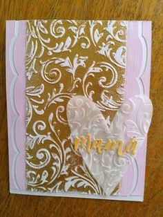 Mi Scrap: mamá card Blog, Card Making, Scrapbook, Frame, Cards, Decor, Arabesque, Card Stock, Hearts