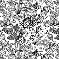 28 best floral print black white images on pinterest floral 005 floral print black white mightylinksfo