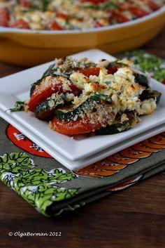 Zucchini, Tomato & Feta Gratin Recipe