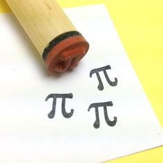 Pi Rubber Stamp  math symbol by RADstamps on Etsy, $3.40