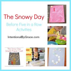 the snowy day activities for the before five in a row curriculum - = Intentional By Grace