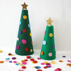 Felt Christmas Tree trying to keep little hands off the family tree this year!