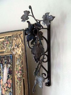 Grape vine bracket - by Cicada Iron Works.  Use our pre-made components and have a local iron worker create your own design.