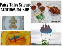 Fairy Tales Theme Science Activities:  Dissolving Gingerbread Man, Pumpkin Science, Growing a Beanstalk, and more...