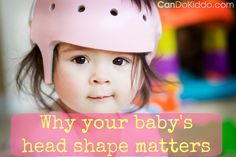 Early Helmet Therapy Yields Better Results for Infants With Flat Head Syndrome Pediatric Physical Therapy, Pediatric Ot, Occupational Therapy, Plagiocephaly Helmets, Baby Head Shape, Vintage Baby Girl Names, Baby Helmet, Flat Head, Tummy Time