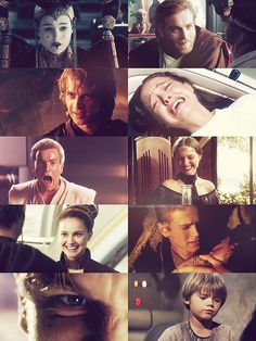 Obi Wan, Anakin, and Padme