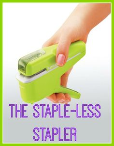 Shut up and take my money! It's eco friendly, thrifty and great for shredders! The stapleless stapler