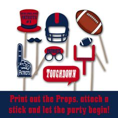 New England Patriots Party Package Printable Over by OldMarket
