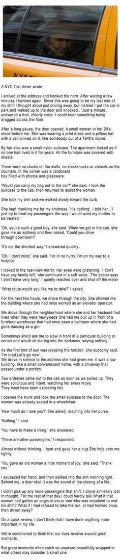 This story circled before but it still brings tears to my eyes!