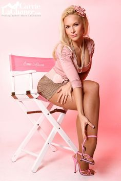 carrie lachance | Model Carrie LaChance Pin-Up Pink High Heels. #carrielachance # ...