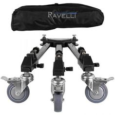 Ravelli ATD Professional Tripod Dolly for Camera Photo Video New Equipment For Sale, Audio Equipment, Photo Accessories, Camera Accessories, Gopro, Black Friday Camera, Professional Camera, Photography Supplies, Gadgets