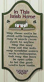 In This Irish Home sign St. Patrick's Day